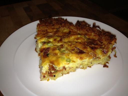 Gluten-free Quiche with a Hash Brown Crust