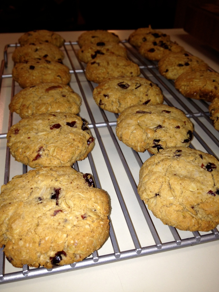 Cranberry Coconut Oatmeal Cookies #glutenfree