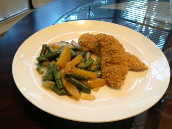Green Beans, Leeks, and Roasted Golden Beets #glutenfree