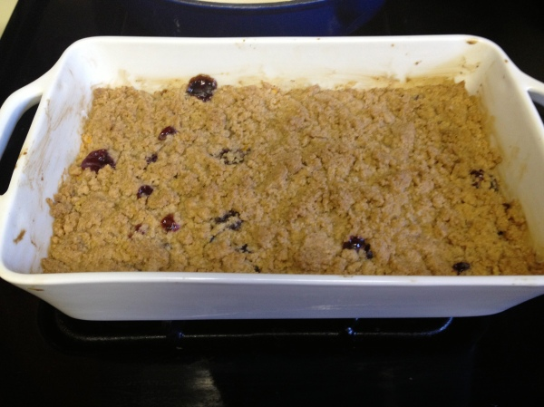 Gluten-free Cherry Mango Crumble