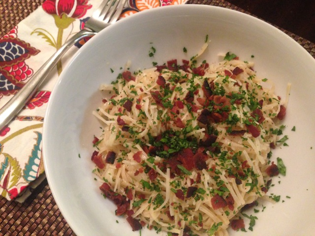 Pasta Carbonara with Rice Noodles