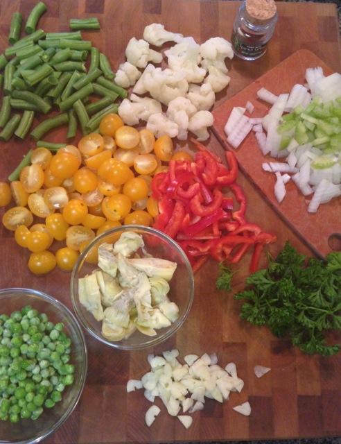 Veggie Paella Prep