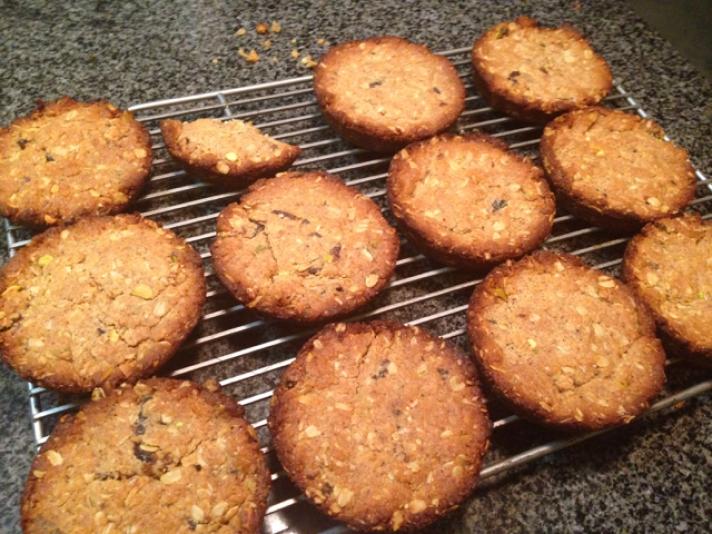 Fig Pistachio Oatmeal Cookies