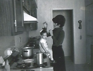 Mom & me in 1973 - I was the first born and about 1 year old in this perfect black and white.