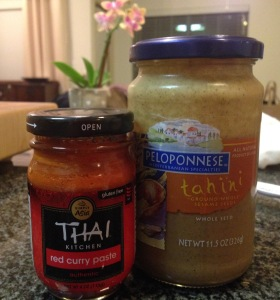 Red Curry Paste and Tahini