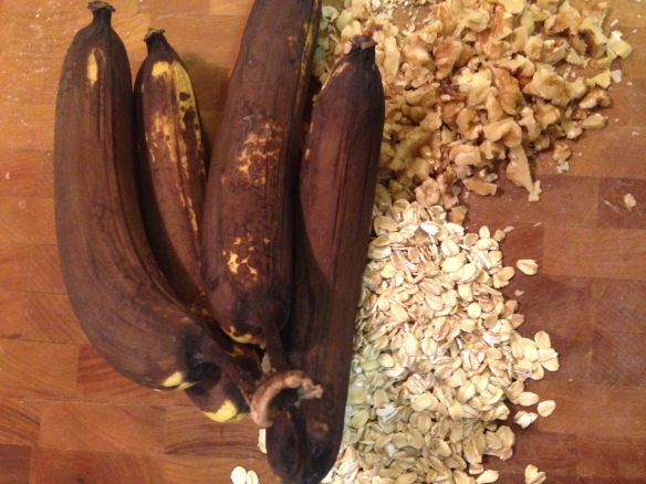 Ripe Bananas for the Muffins